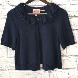 Juicy Couture Ruffle Collar Sweater Cardigan Girls